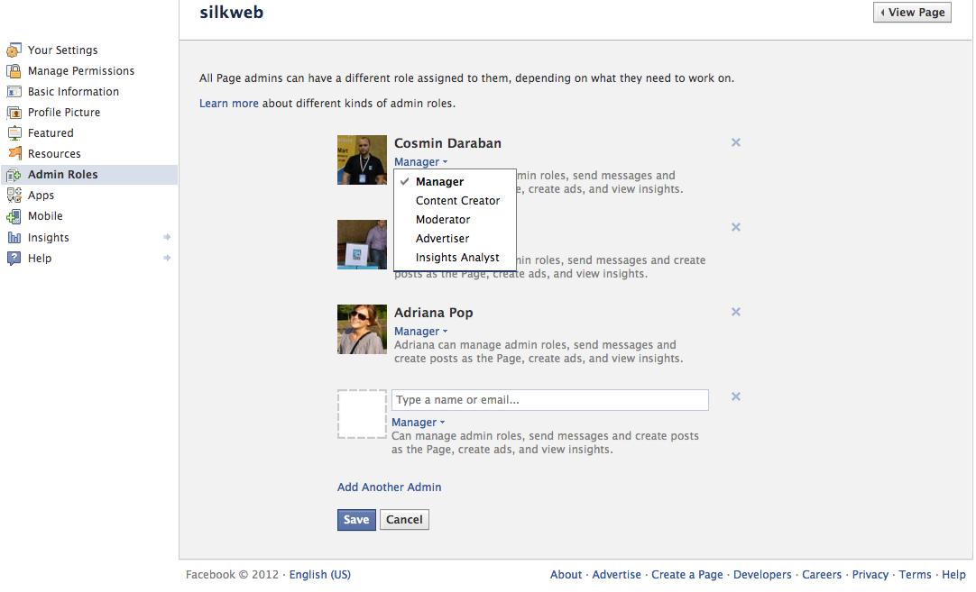 rol administrator facebook