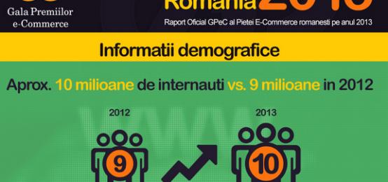 Infografic – starea comertului electronic in 2013, in Romania